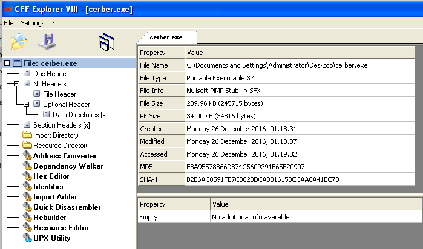 Cerber Ransomware: Unpacking Malware from Memory and