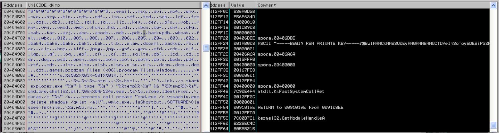 06-01-2017 Spora Ransomware Configuration – Reverse